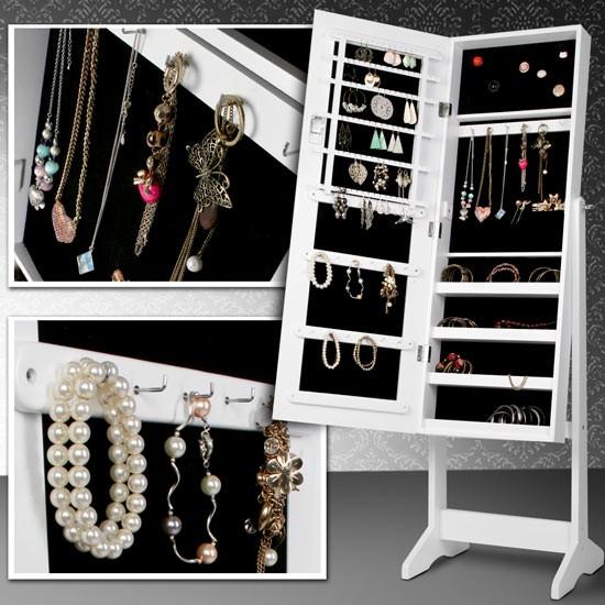Omarica za nakit z ogledalom