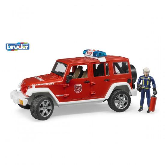 Bruder Jeep Wrangler gasilsko vozilo s figurico