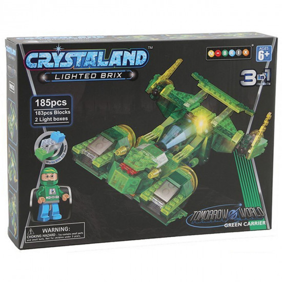 Crystaland vesoljska ladja 3v1