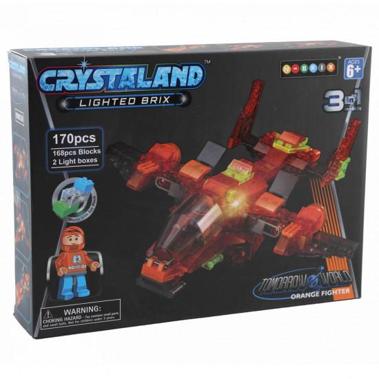 Crystaland letalo 3v1 kocke