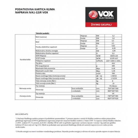 VOX klimatska naprava IVA1-12IR
