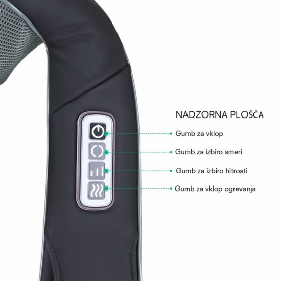 Naipo shiatsu masažna naprava MGS-321 za vrat in ramena