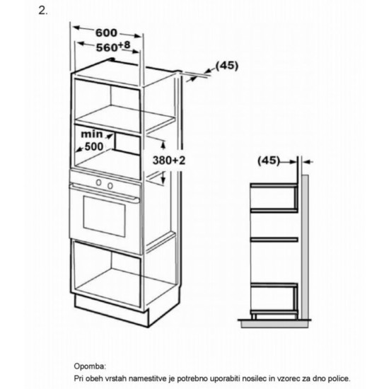 VOX vgradna mikrovalovna pečica IMWH-M201IX