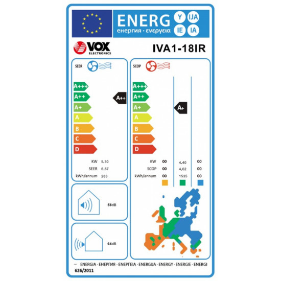 VOX klimatska naprava IVA1-18IR