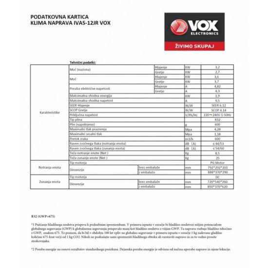 VOX klimatska naprava IVA5-12JR