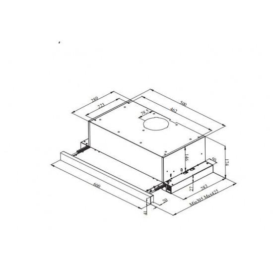 VOX kuhinjska napa PIO 650 IX