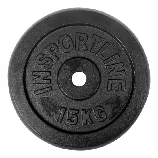 15 kg Litoželezna inSPORTline utež - kolut