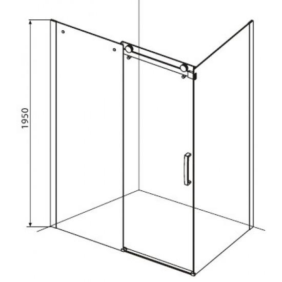 Sanotechnik pravokotna tuš kabina Elegance