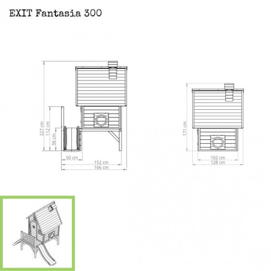 Otroška hiška Fantasia 300