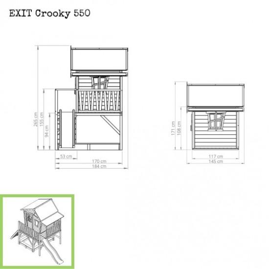 Otroška hiška Crooky 550