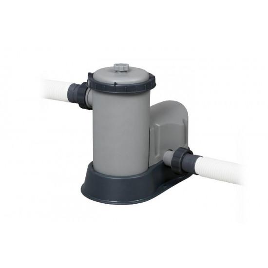 Bazen Bestway Power Steel Swim Vista 549x122 cm z vzorcem ratana s kartušno filtrsko črpalko