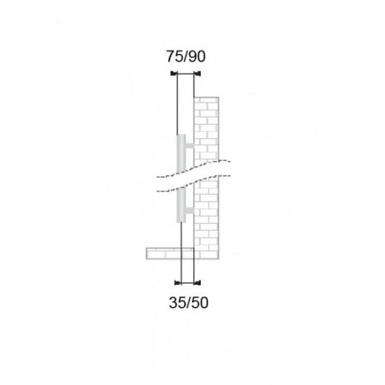 Sanotechnik kopalniški radiator Catania 60x119 beli