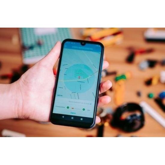 FOREVER otroška ura KW-400 WiF, GPS kamera obvestila o klicih smsih in aplikacijah pedometer črna