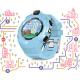 FOREVER otroška ura KW-400, WiFi GPS kamera obvestila o klicih smsih in aplikacijah pedometer modra