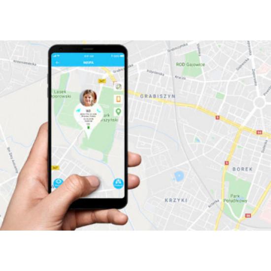 FOREVER otroška ura KW-400 WiFi GPS kamera obvestila o klicih smsih in aplikacijah pedometer roza