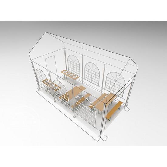 Prireditveni šotor 3x6 - 240g/m2