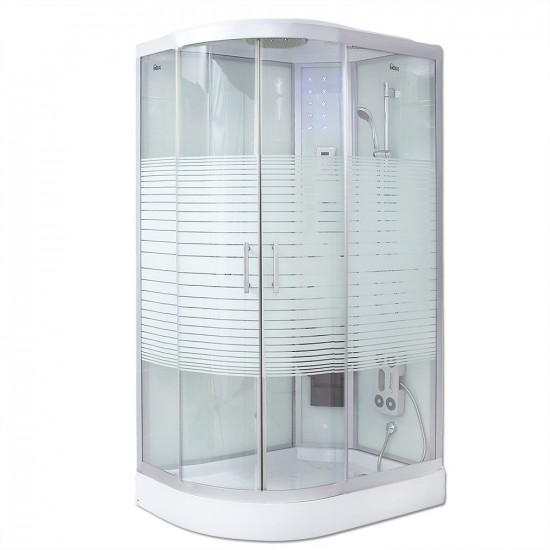 Parna tuš kabina White Pearl (Cr) 120x80 cm (leva)