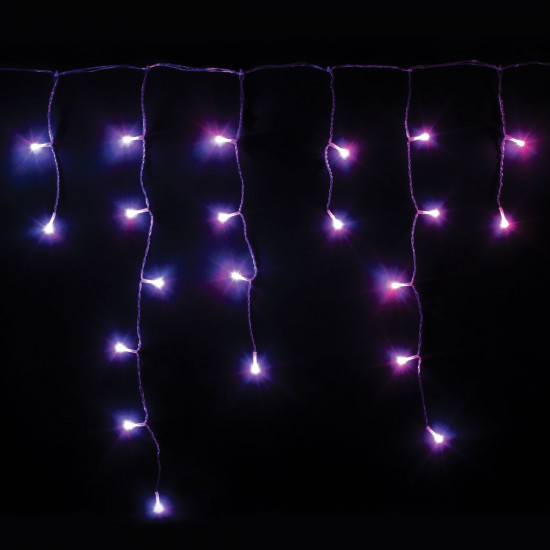Pametne lučke Twinkly - Icycle, prozorna žica
