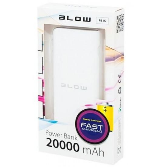 Power bank BLOW 20.000mAh PB15 Bel sivi rob