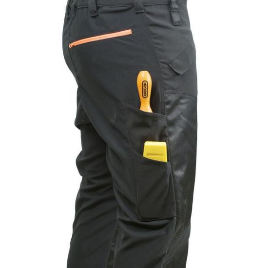 Oregon zaščitne hlače z naramnicami črne Waipoua razred I št.46/48 (M)