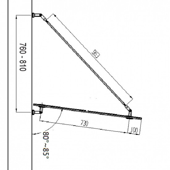 Nadstrešek za vhodna vrata 150x90 cm V1