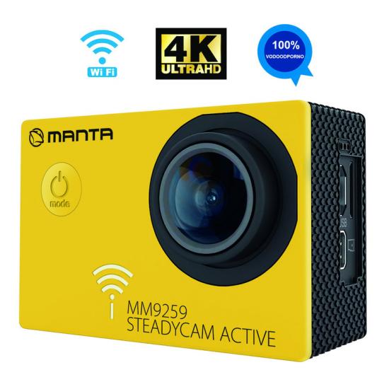 Aktivna športna kamera MANTA MM9259 STEADYCAM ACTIVE 4K-UHD WiFi