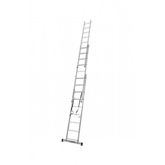 Trodelna aluminijasta lestev 3x9 stopnic