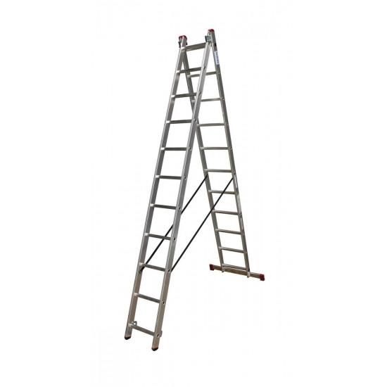 Večnamenska dvodelna lestev 2x11