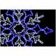 Lučke Snežinka LED bela/modra 80 cm