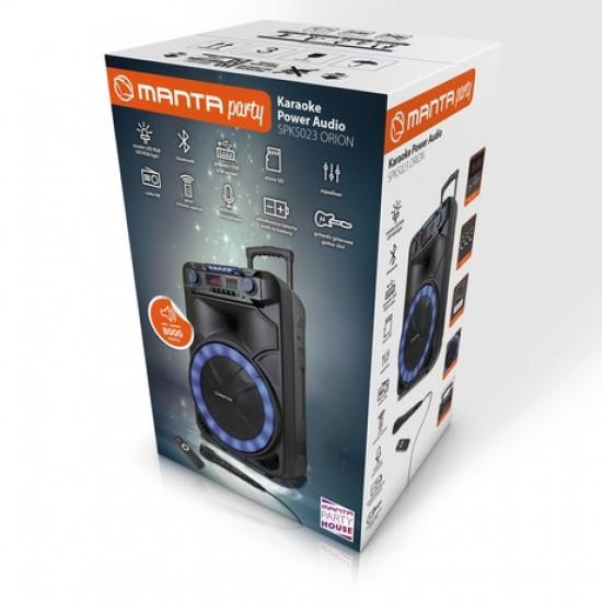 Karaoke zvočni sistem, prenosni/voziček MANTA SPK5023 ORION 8.000 P.M.P.O