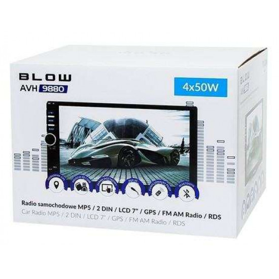 "Avtoradio BLOW AVH9880 78-220 MP5 / 2DIN / LCD 7"" / RDS / GPS"