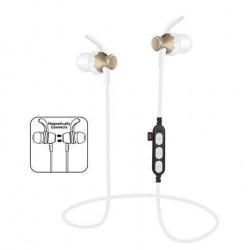 Bluetooth športne slušalke PLATINET IN-EAR zlate