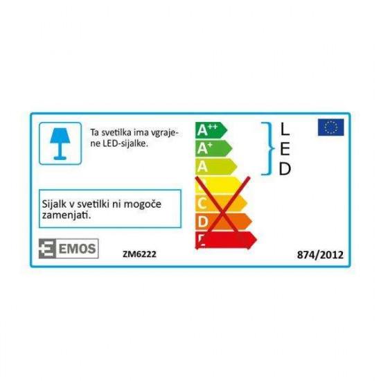 LED stropna svetilka S6W NW srebrna kvadratna