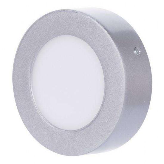 LED stropna svetilka Emos Panel C6W NW srebrna okrogla