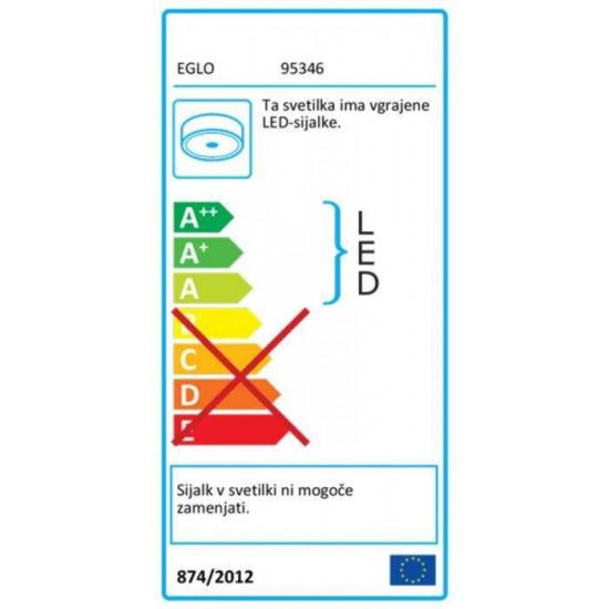 LED stropna svetilka Eglo Romao 24W FI500 siva