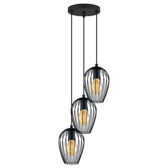 Viseča svetilka Eglo 49479 Newtown črna