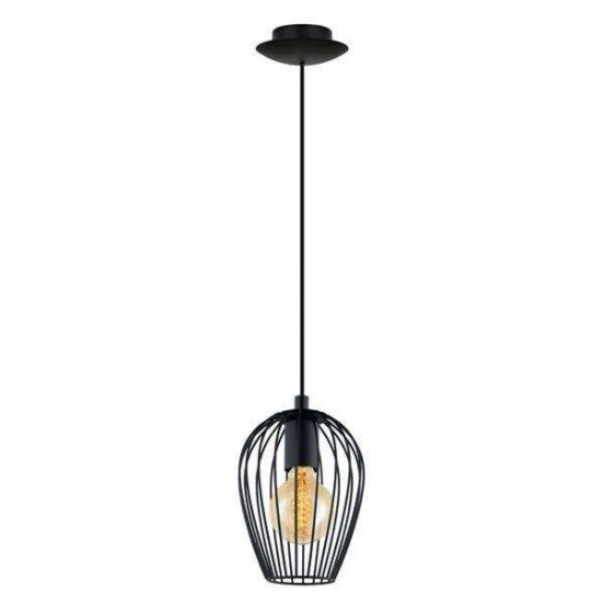 Viseča svetilka Eglo 49477 Newtown črna