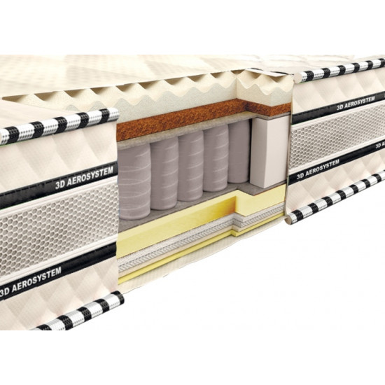 Spring Mattress 3D Magnat Memory-Latex-Cocos 160x190