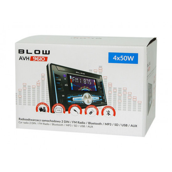 Avtoradio BLOW AVH9610 2DIN / FM radio, Bluetooth, MP3, USB, SD, AUX