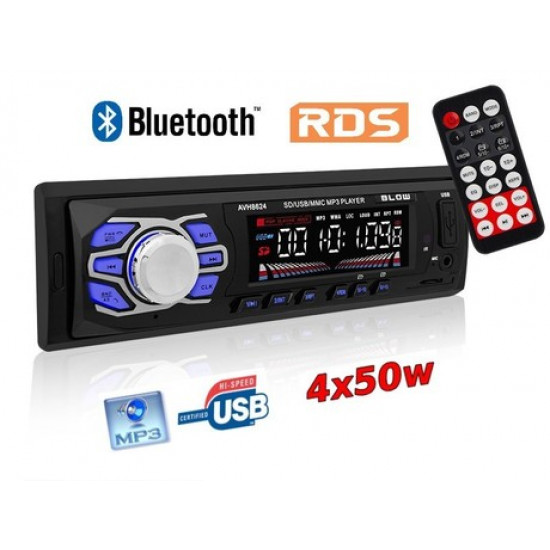 Avtoradio BLOW AVH-8624 MP3/USB/SD/MMC/BT